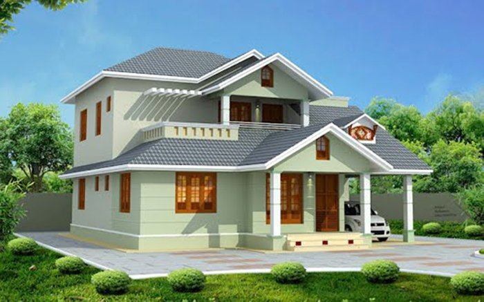 C c m u nh 2 t ng p h nh ch l gi ch a n 600 tri u ng for Beautifully painted houses in kerala