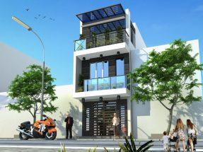 Mẫu nhà đẹp 2 tầng mặt tiền rộng 7m phong cách hiện đại thumbnail