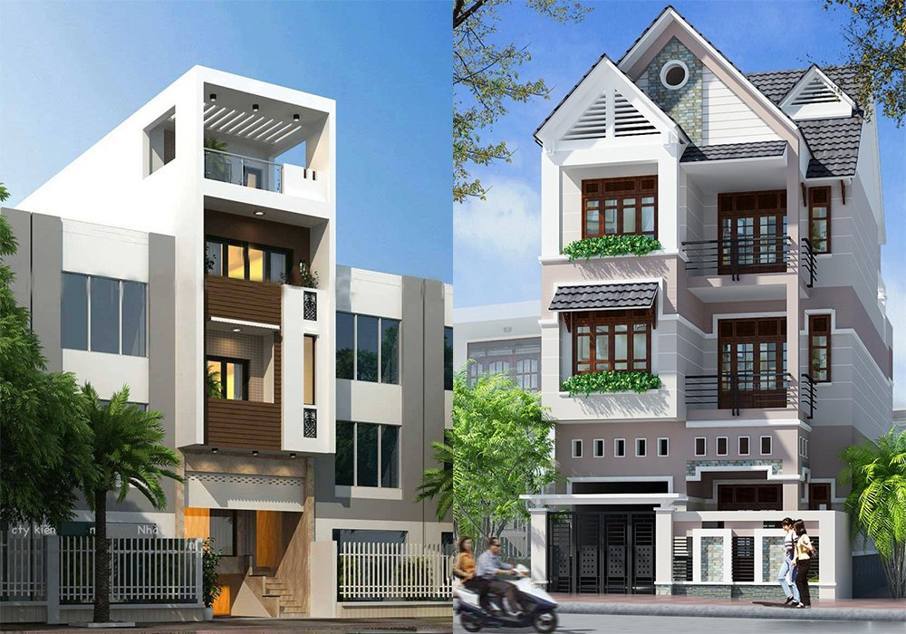 Bộ sưu tập các thiết kế nhà phố hiện đại đẹp