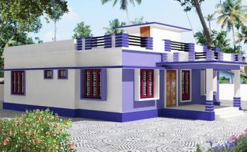 10 mẫu thiết kế nhà mái bằng 1 tầng chi phí khá thấp thumbnail