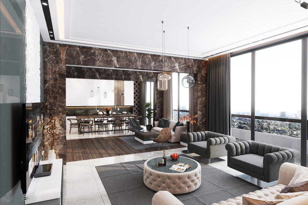 Mẫu thiết kế nội thất chung cư cao cấp của nhà sưu tập nghệ thuật thumbnail