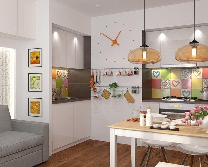 Thiết kế nội thất căn hộ chung cư đẹp 42m2 tiện nghi Châu Âu năm 2018 thumbnail