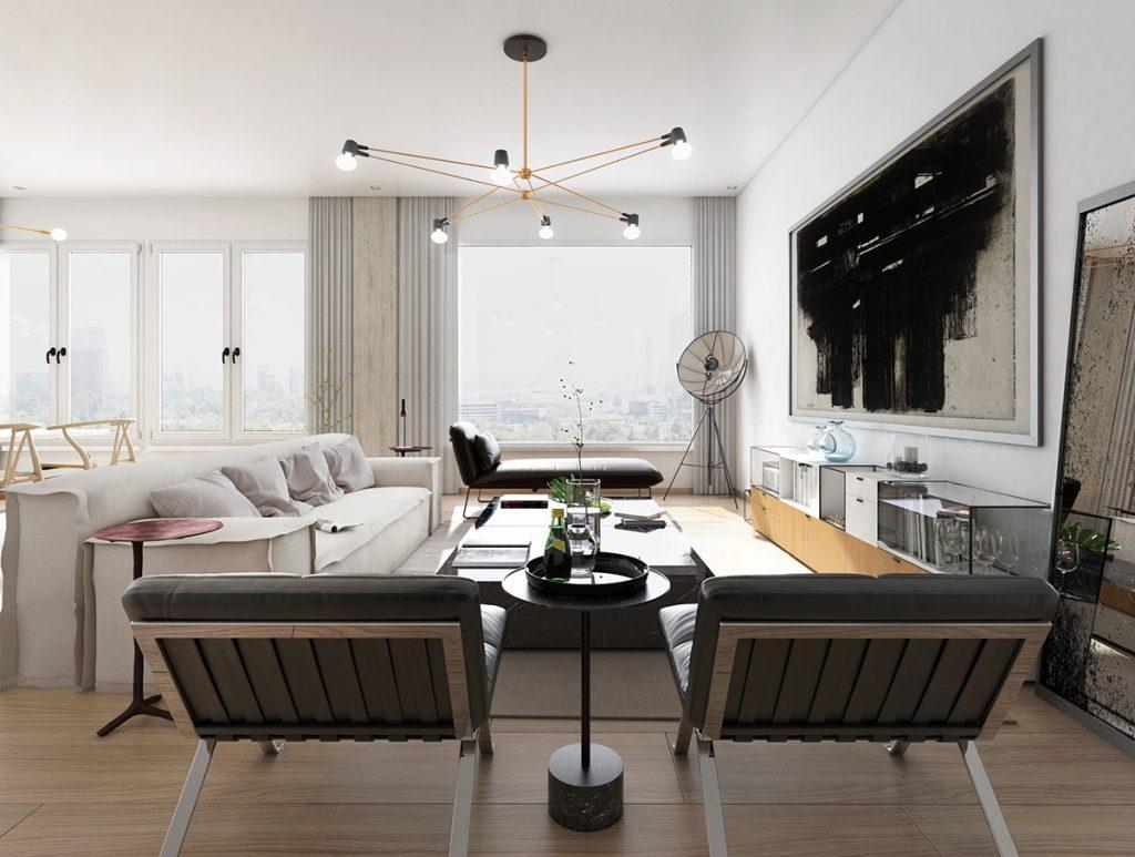 Xu hướng thiết kế nội thất chung cư cao cấp sang chảnh năm 2018 post image