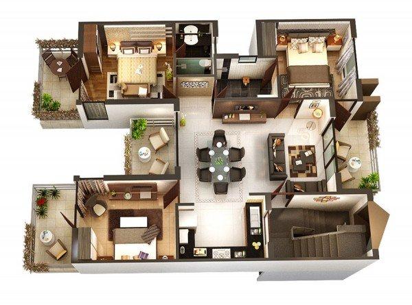 Gợi ý 50 mẫu thiết kế căn hộ chung cư 3 phòng ngủ hiện đại thumbnail