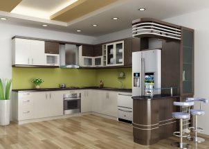 Mẫu nội thất tủ bếp gỗ cao cấp hiện đại giá rẻ dành cho gia đình