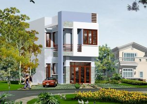 Mẫu thiết kế nhà 2 tầng hiện đại diện tích 5x16m giá rẻ thumbnail