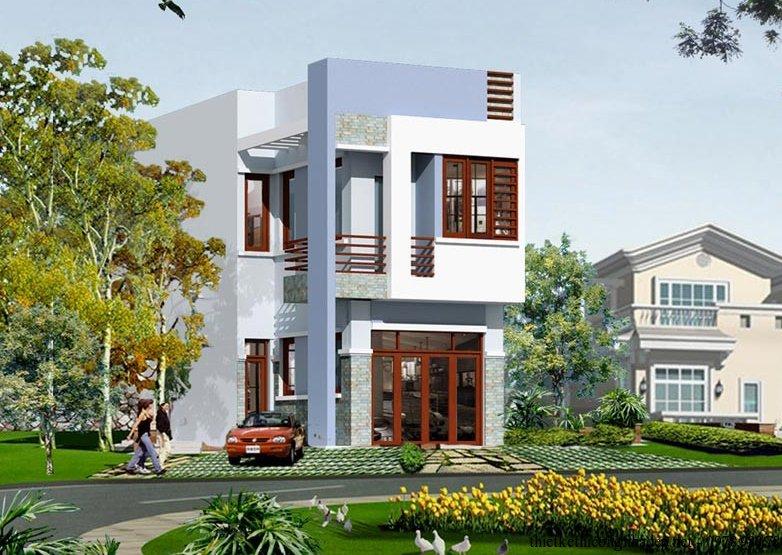 Mẫu thiết kế nhà 2 tầng hiện đại diện tích 5x16m giá rẻ post image