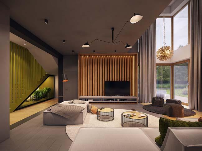 Thiết kế nội thất biệt thự hiện đại vừa sang trọng vừa ấm áp thumbnail