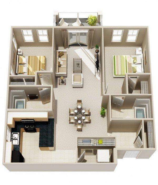 Top 10 mẫu thiết kế nội thất chung cư hai phòng ngủ hiện đại năm 2018 thumbnail