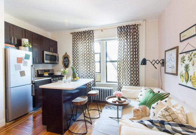 Trang trí nội thất căn hộ chung cư 65m2 nổi bật sơn tường màu hồng thumbnail