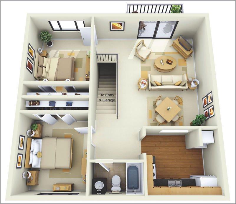 10 mẫu thiết kế căn hộ chung cư 70m2 đẹp hiện đại không thể bỏ qua thumbnail