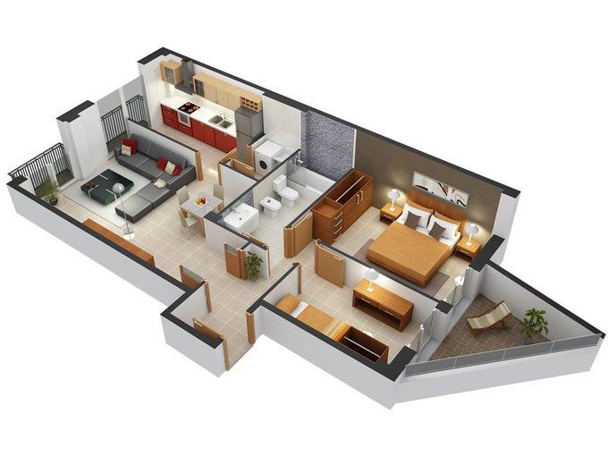 12 mẫu thiết kế nội thất chung cư 2 phòng ngủ ưa chuộng nhất 2018 thumbnail