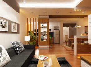 15 mẫu thiết kế phòng khách và bếp liền nhau đẹp sáng tạo thumbnail