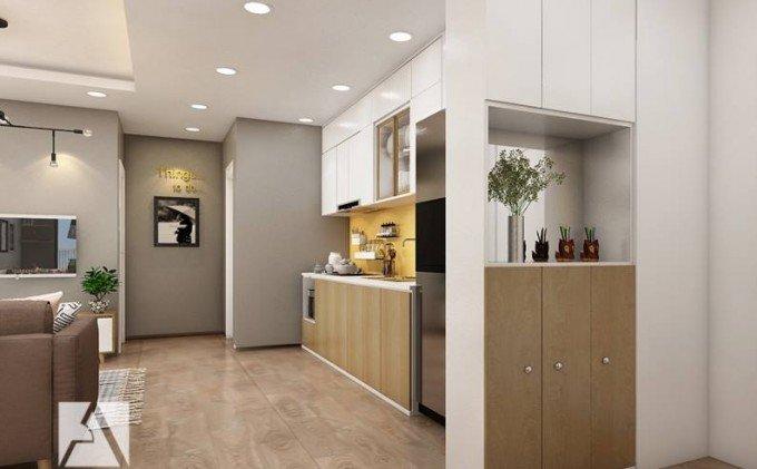 Thiết kế nội thất phòng bếp chung cư đẹp, hiện đại