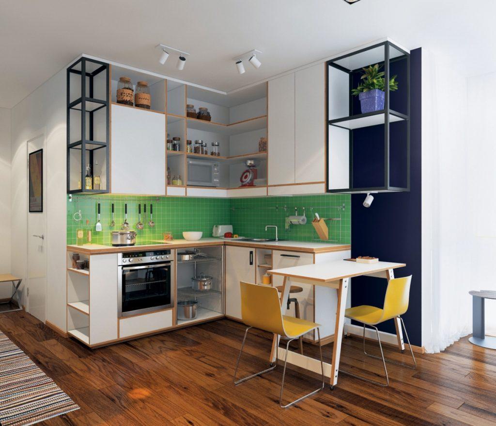 23 mẫu thiết kế nhà bếp cho nhà chung cư nhỏ siêu dễ thương-5