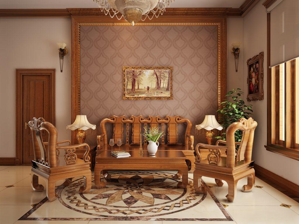 Xu hướng thiết kế nội thất phòng khách bằng gỗ hiện nay thumbnail