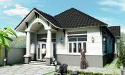 Các mẫu nhà đẹp 1 tầng hiện đại giá rẻ phong cách mái thái đơn giản thumbnail