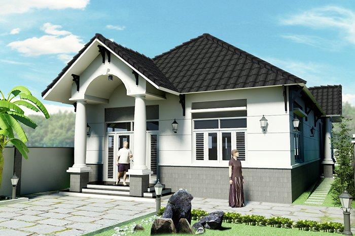 Các mẫu nhà đẹp 1 tầng hiện đại giá rẻ phong cách mái thái đơn giản post image