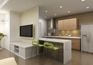 Cách bố trí phòng bếp đẹp cho nhà ống tối ưu không gian thumbnail