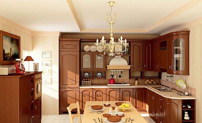 Mẫu phòng bếp cổ điển đẹp dành cho nhà biệt thự post image