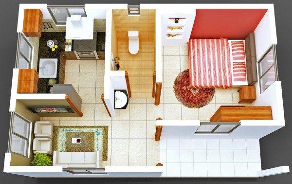 12 mẫu thiết kế căn hộ chung cư 1 phòng ngủ tiện nghi đầy cá tính post image