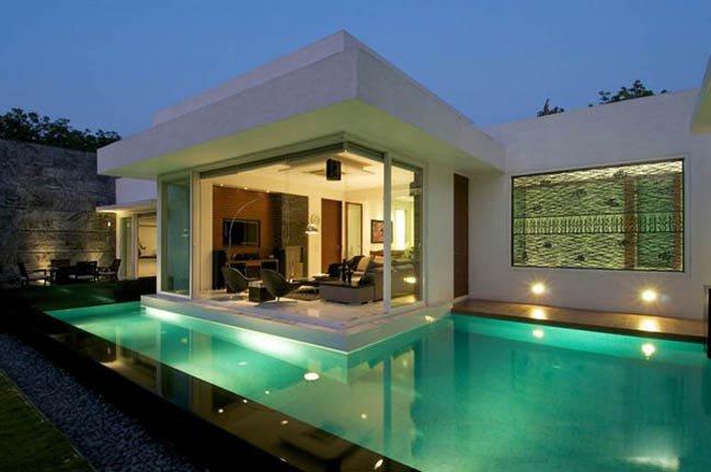 Mẫu thiết kế nhà đẹp 1 tầng hiện đại tại Ấn Độ post image