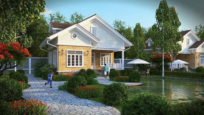 Mẫu thiết kế nhà vườn đẹp 1 tầng đơn giản hiện đại post image