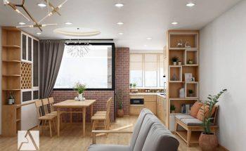Một số mẫu thiết kế nội thất phòng bếp chung cư có diện tích nhỏ thumbnail