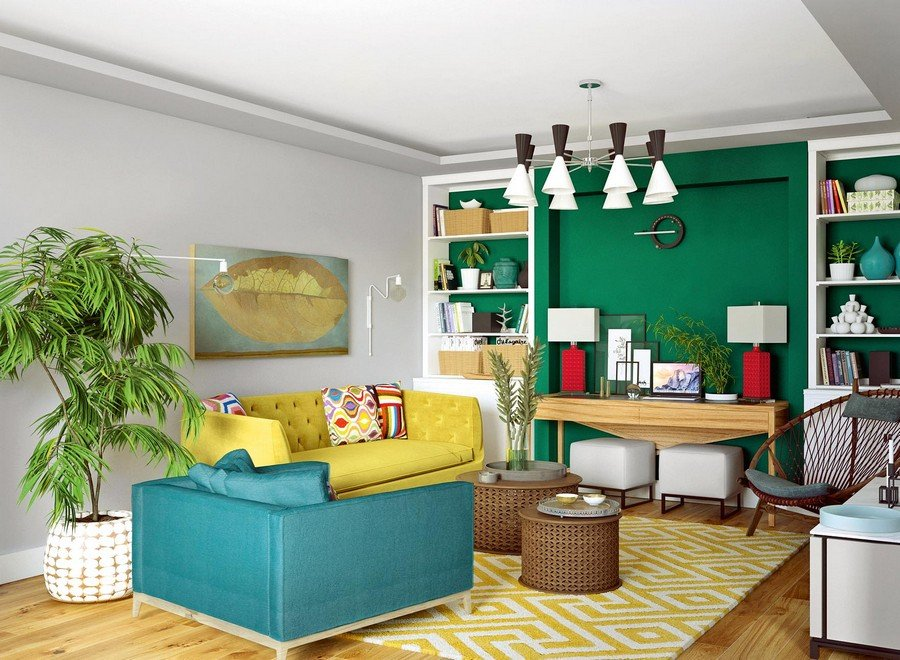 """Thiết kế nội thất chung cư 70m2 """"ĐẸP ĐỘC LẠ"""" theo xu hướng kết hợp post image"""