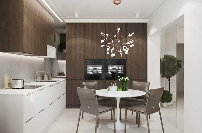Thiết kế nội thất chung cư cao cấp 70m2 theo phong cách hiện đại thumbnail