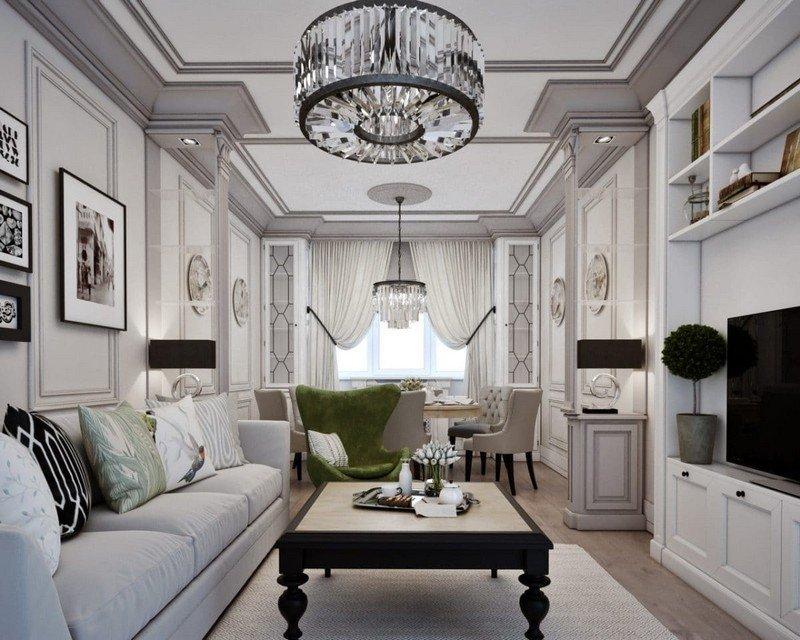 Thiết kế nội thất chung cư tân cổ điển với gam màu xám&be ấn tượng thumbnail