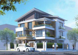 10 mẫu nhà đẹp 3 tầng 2 mặt tiền theo kiến trúc biệt thự thumbnail