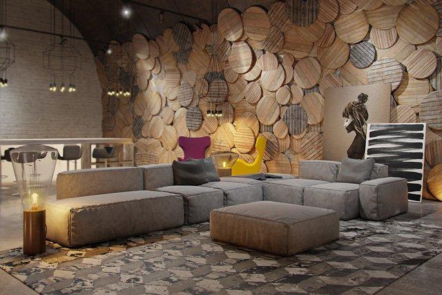 Ấn tượng với bức tường đầy độc đáo trong thiết kế phòng khách thumbnail