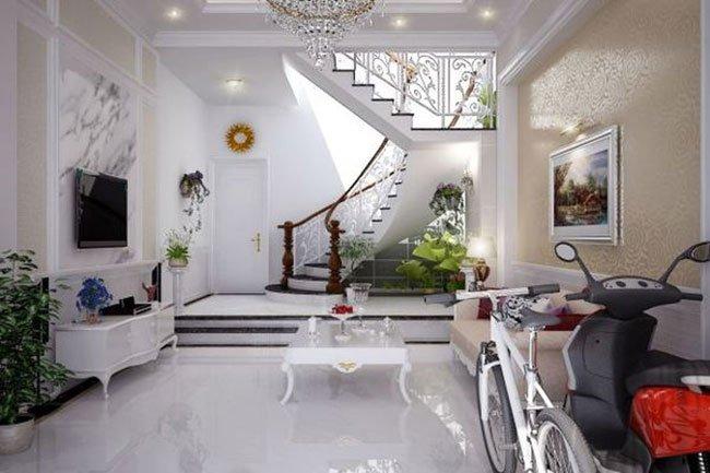 cầu thang đẹp được trang trí theo thiết kế nội thất châu Âu