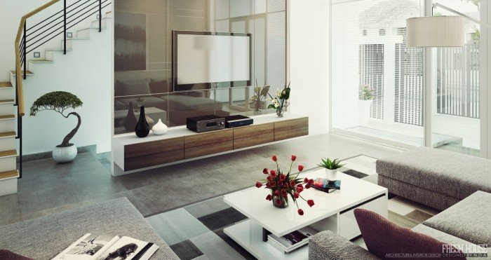 Thiết kế phòng khách hiện đại đầy ngập ánh sáng tự nhiên thumbnail