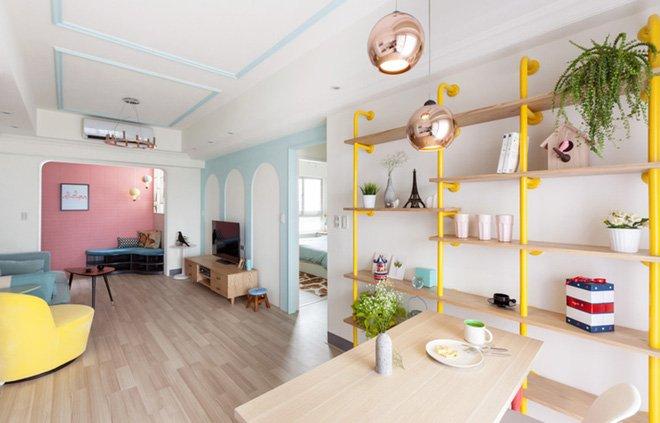 Cải tạo thiết kế căn hộ với tông màu Pastel cho nàng độc thân thumbnail