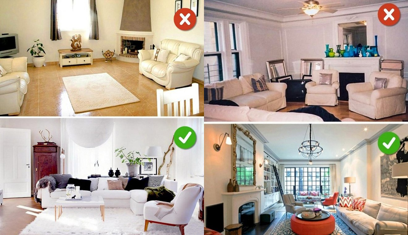 14 sai lầm cần tránh khi thiết kế nội thất phòng khách hiện đại post image