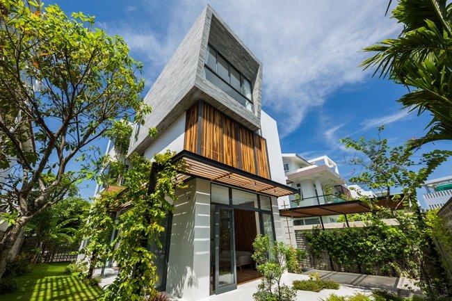 Mẫu thiết kế biệt thự 3 tầng đẹp theo phong cách hiện đại thumbnail