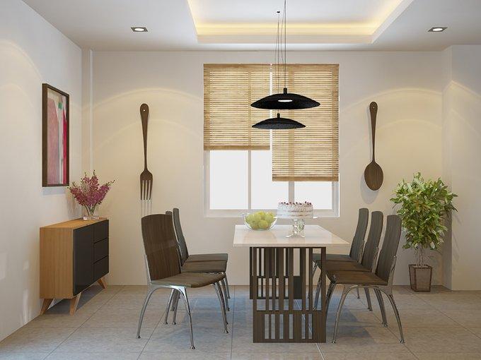 Tư vấn mẫu nhà đẹp 2,5 tầng diện tích 4x18m - Không gian phòng ăn