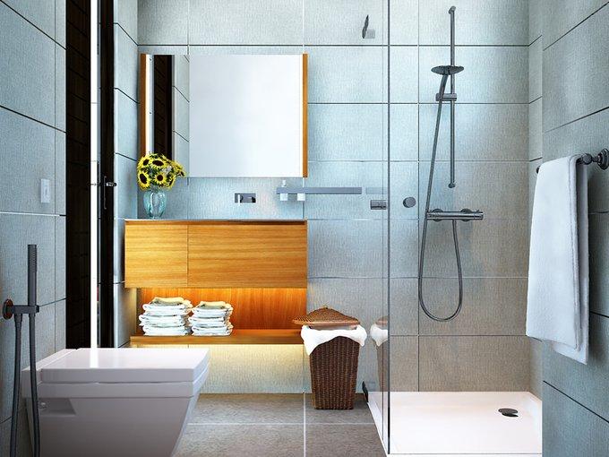Tư vấn mẫu nhà đẹp 2,5 tầng diện tích 4x18m - Không gian phòng tắm+wc