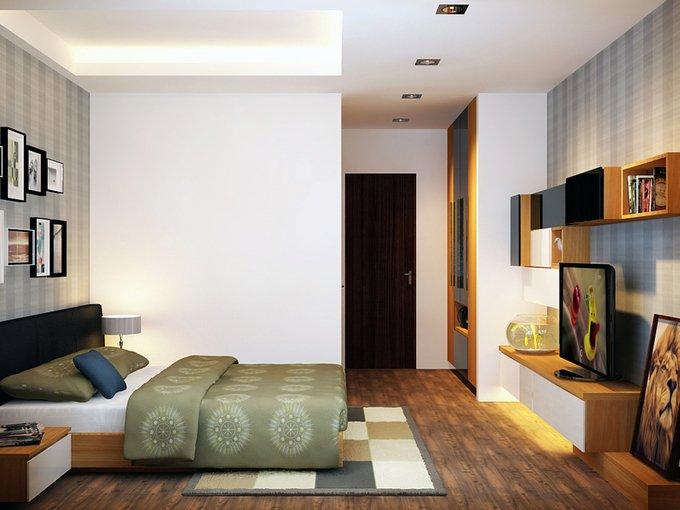 Tư vấn mẫu nhà đẹp 2,5 tầng diện tích 4x18m - Không gian phòng ngủ