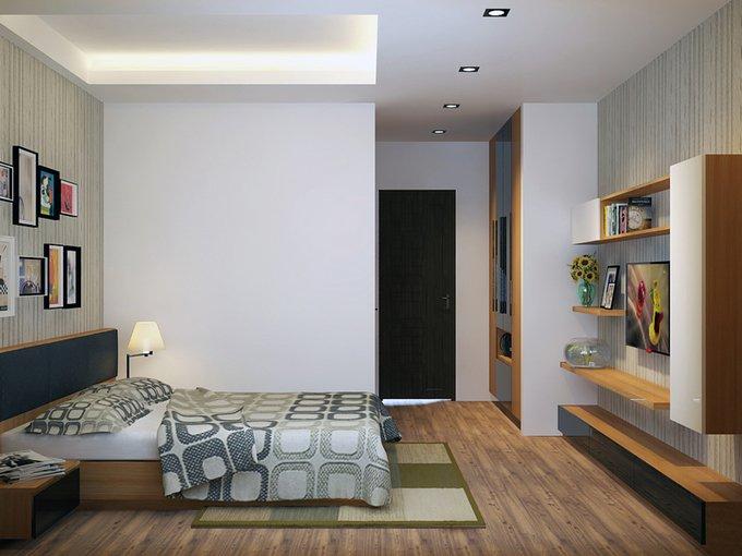 Tư vấn mẫu nhà đẹp 2,5 tầng diện tích 4x18m - Không gian phòng ngủ 02