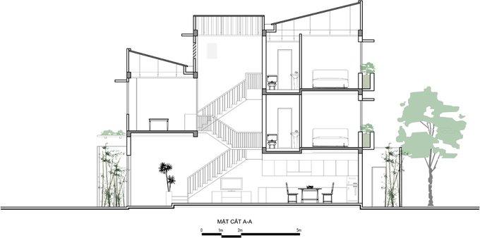Tư vấn mẫu nhà đẹp 2,5 tầng diện tích 4x18m - Mặt đứng