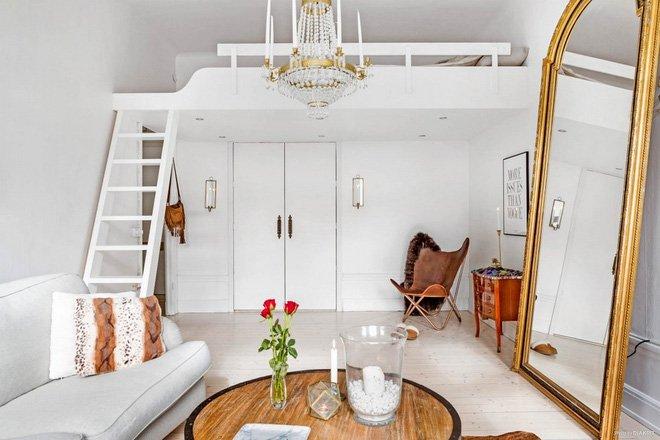 Ngạc nhiên thiết kế căn hộ nhỏ có gác lửng độc đáo cho nàng độc thân thumbnail
