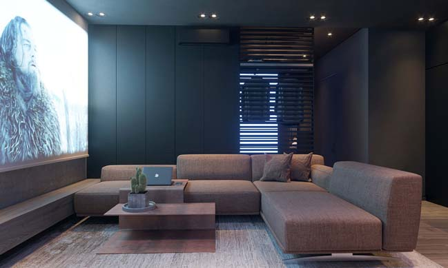 Thiết kế căn hộ chung cư nhỏ 1 phòng ngủ hiện đại với tông màu nóng thumbnail