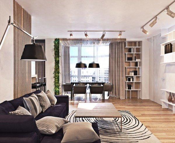 Thiết kế nội thất căn hộ chung cư hiện đại theo không gian mở thumbnail
