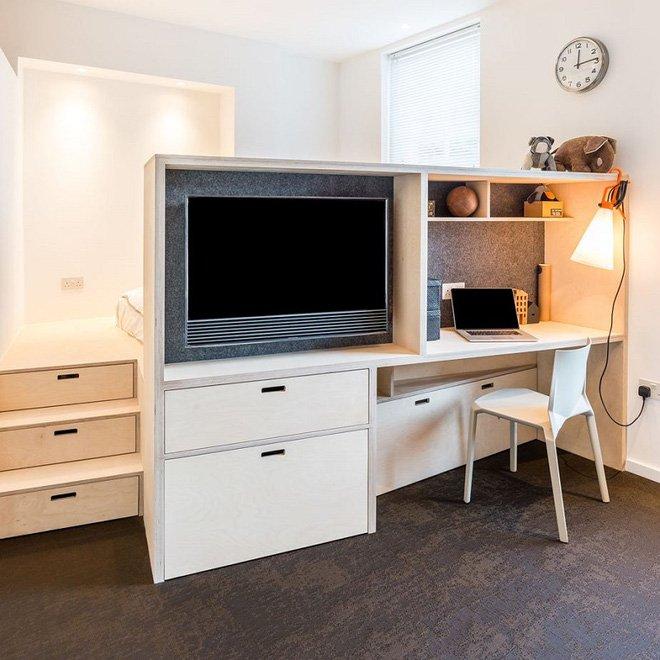 Thiết kế nội thất căn hộ nhỏ 35m2 bố trí sáng tạo đầy đủ và tiện ích thumbnail