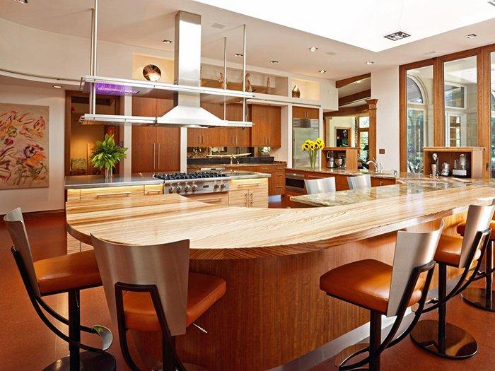 Mẫu nhà bếp đẹp hiện đại với lối thiết kế không gian rộng