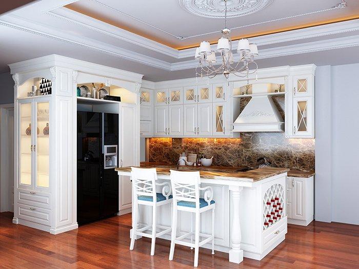 Mẫu nhà bếp đẹp tân cổ điển