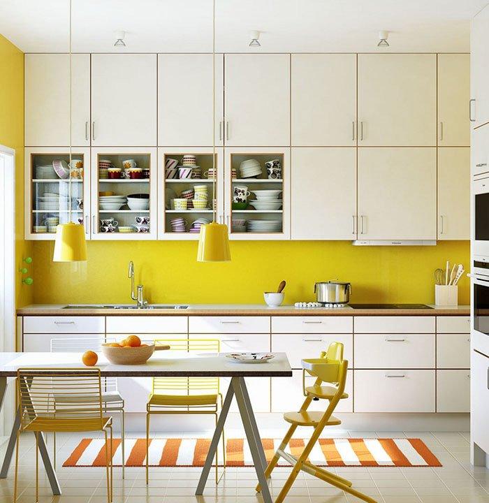 Mẫu nhà bếp đẹp với những điểm nhấn vui tươi
